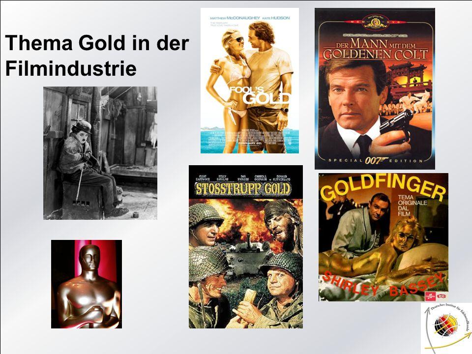 Thema Gold in der Filmindustrie