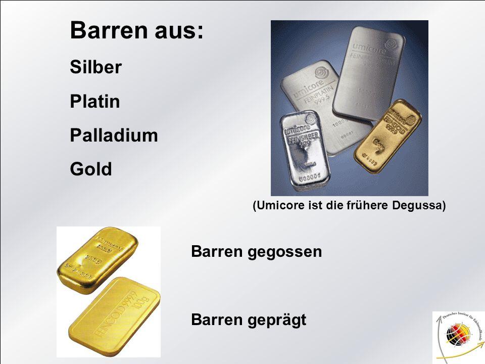 Der Begriff Karat Der Goldgehalt von Barren, Münzen und Schmuck wird als Feinheit in Promille angegeben, oft auch in Karat (kt).