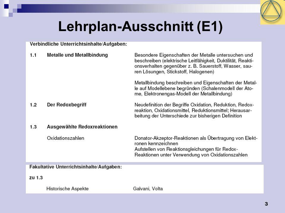 3 Lehrplan-Ausschnitt (E1)