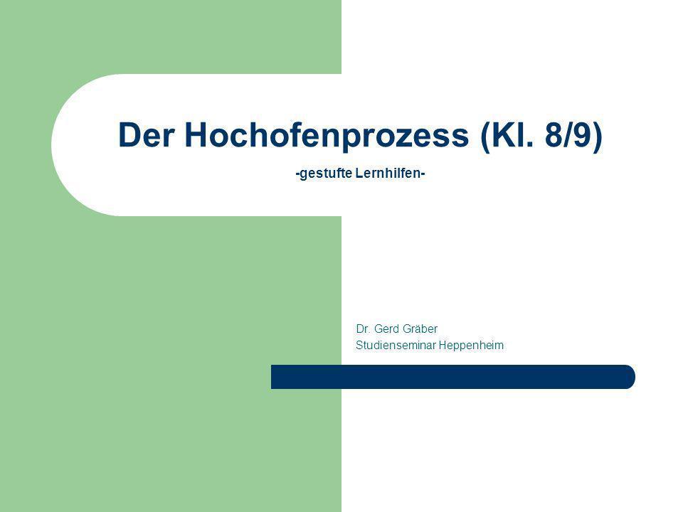 Der Hochofenprozess (Kl. 8/9) -gestufte Lernhilfen- Dr. Gerd Gräber Studienseminar Heppenheim