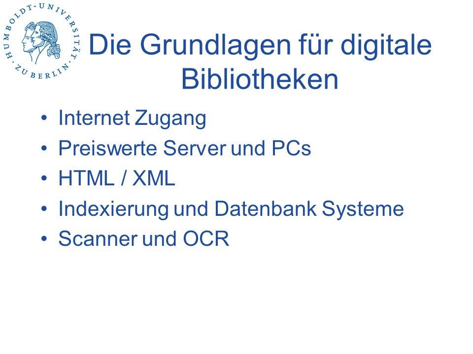 Fazit Der Begriff Digitale Bibliothek ist eine Metapher, welche Dienste einschließt.