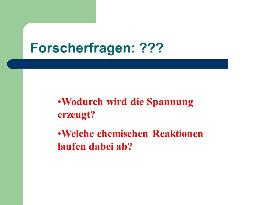 Stellung der Metalle in der Spannungsreihe Zn vor Cu !.