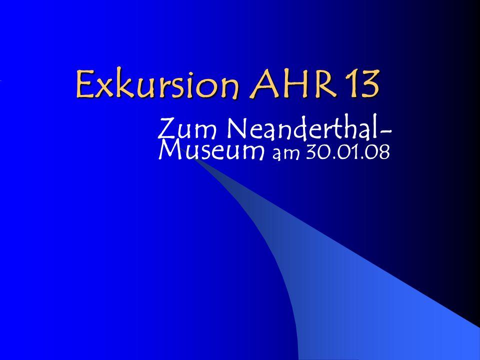 Exkursion AHR 13 Zum Neanderthal- Museum am 30.01.08