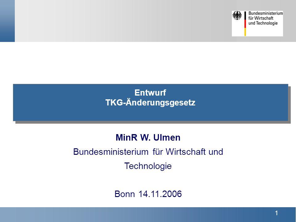 1 Entwurf TKG-Änderungsgesetz MinR W.