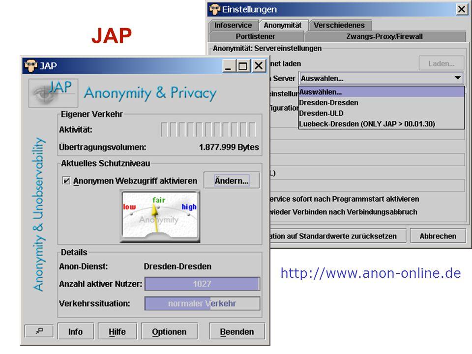Dr. Johann Bizer 9 JAP http://www.anon-online.de