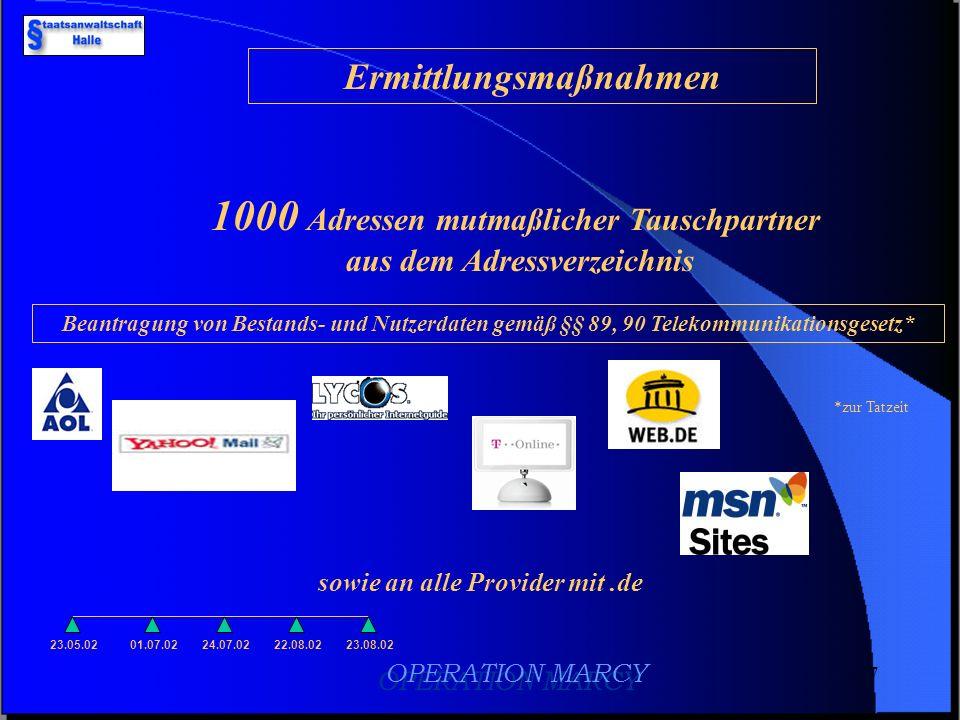 6 dv-technische Auswertung 23.05.0201.07.0224.07.02 496 kinder- pornografische Fotos 402 kinder- pornografische Videoclips E-Mail-Adressverzeichnis mi