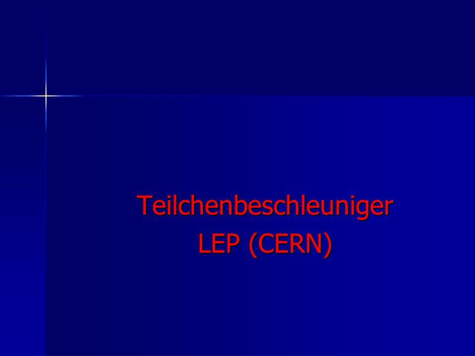 Teilchenbeschleuniger LEP (CERN)