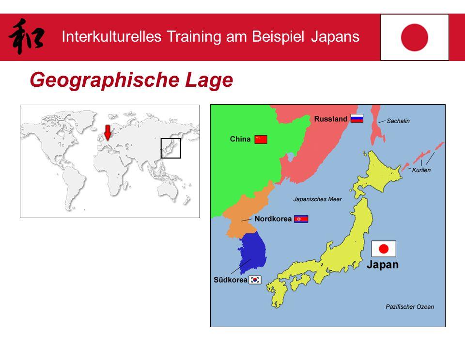 Interkulturelles Training am Beispiel Japans Ein paar Zahlen zu Japan Über 127 Millionen Einwohner Vier japanische Hauptinseln Zusätzlich über 4000 kleine Inseln Hauptstadt ist Tōkyō (> 8 Mio.