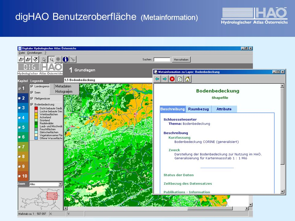 digHAO Benutzeroberfläche (Metainformation)
