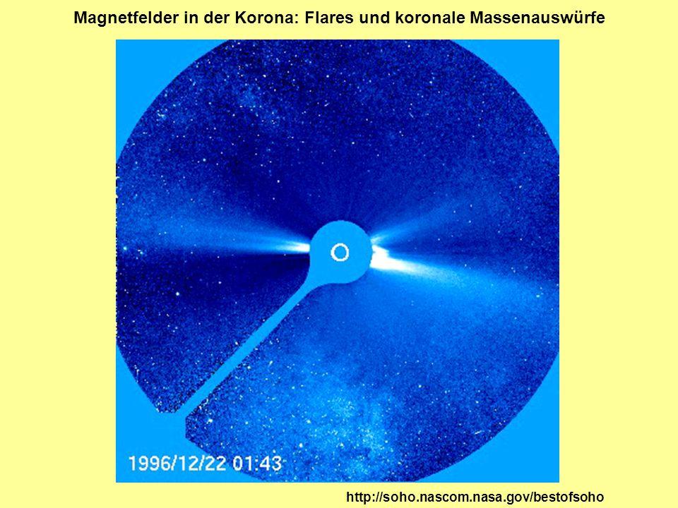 Magnetfelder in der Korona: Flares und koronale Massenauswürfe http://soho.nascom.nasa.gov/bestofsoho