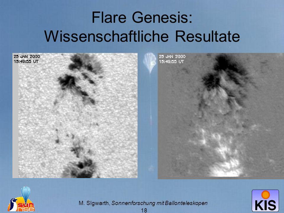 M. SIgwarth, Sonnenforschung mit Ballonteleskopen 18 Flare Genesis: Wissenschaftliche Resultate