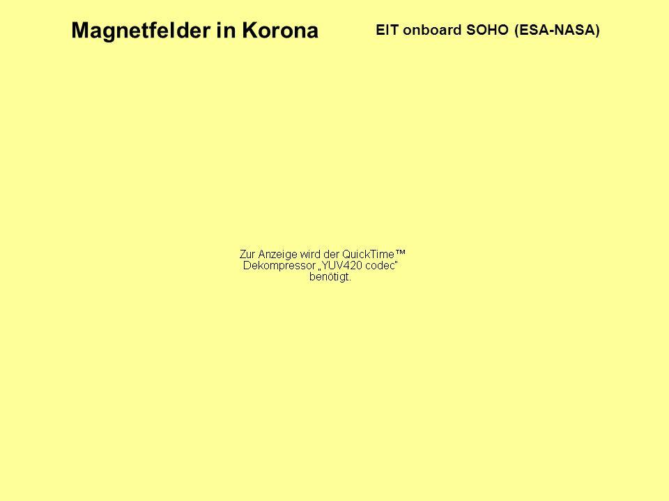 EIT onboard SOHO (ESA-NASA) Magnetfelder in Korona