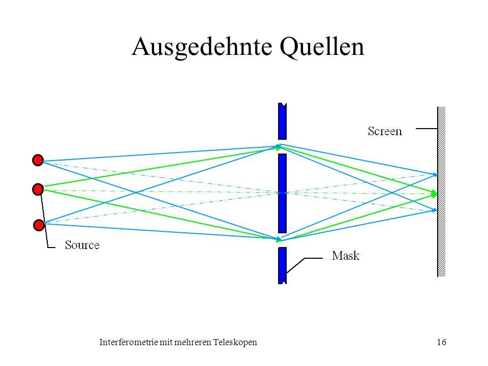 Interferometrie mit mehreren Teleskopen16 Ausgedehnte Quellen
