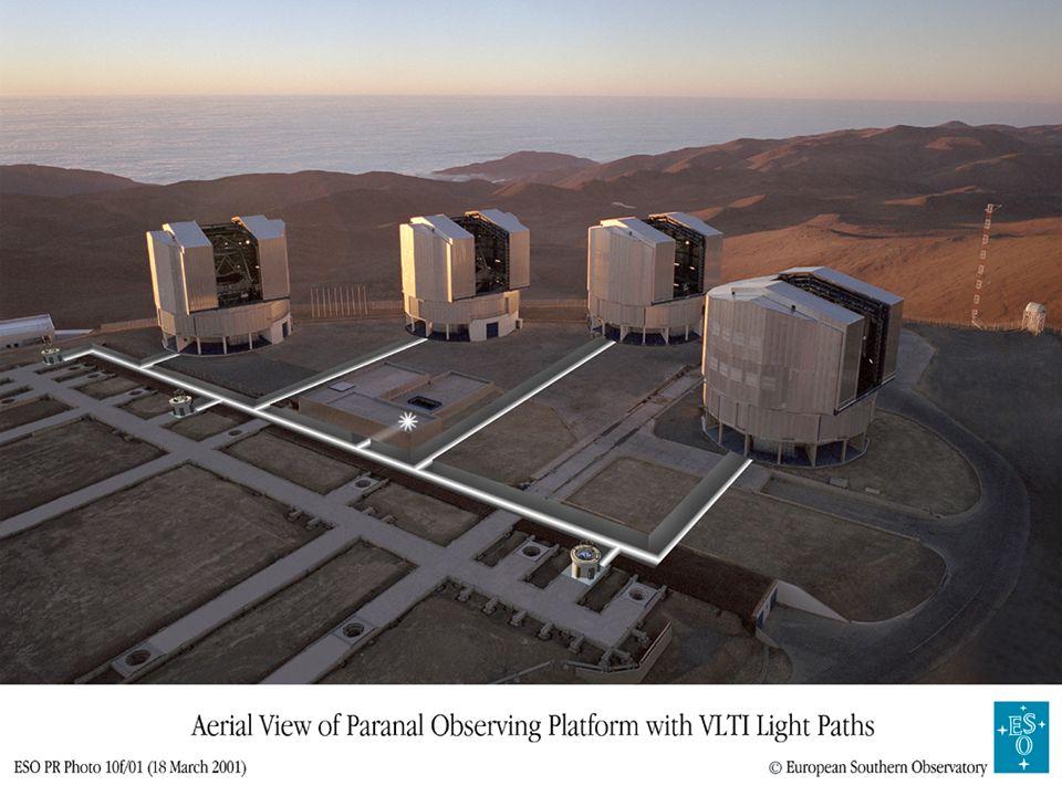 Interferometrie mit mehreren Teleskopen13 Zwei-Element Interferometer V Änderung der internen Verzögerung