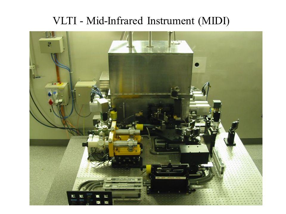 Interferometrie mit mehreren Teleskopen38 VLTI - Mid-Infrared Instrument (MIDI)