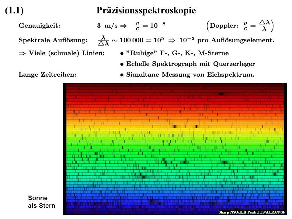 Präzisionsspektroskopie(1.1) Sonne als Stern Sharp NSO/Kitt Peak FTS/AURA/NSF