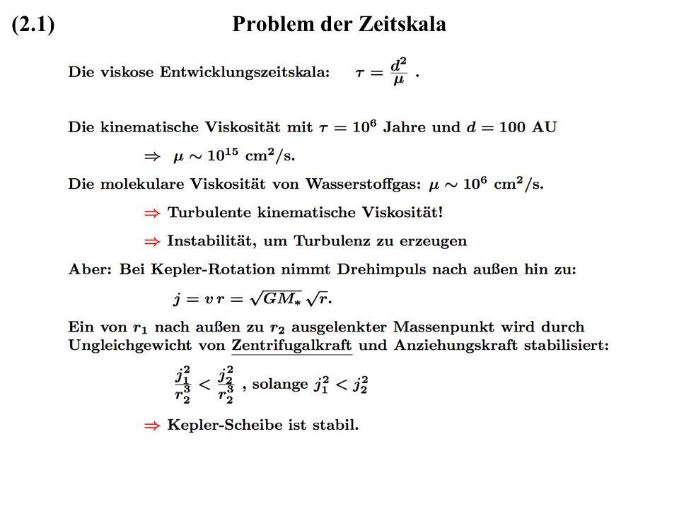 Problem der Zeitskala(2.1)