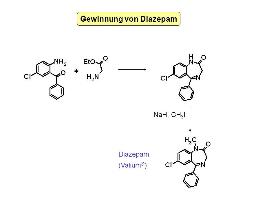 Gewinnung von Diazepam NaH, CH 3 I + Diazepam (Valium ® )