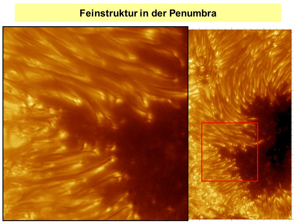 Das Prinzip des solaren Dynamos: Ω-Effekt Differentielle Rotation: Scherströmung verstärkt das Magnetfeld durch Aufwicklung.