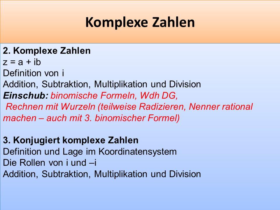 F 22 Komplexe Zahlen 2.