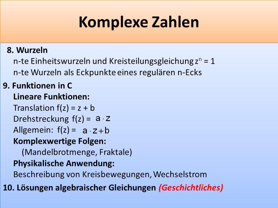 F 25 Komplexe Zahlen 8.