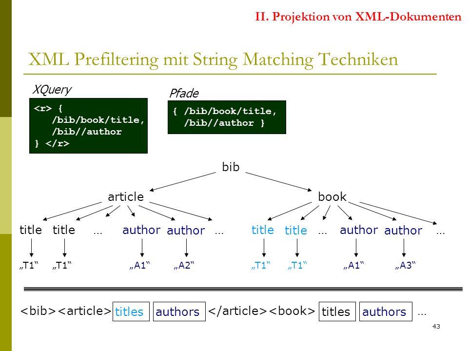43 XML Prefiltering mit String Matching Techniken II.