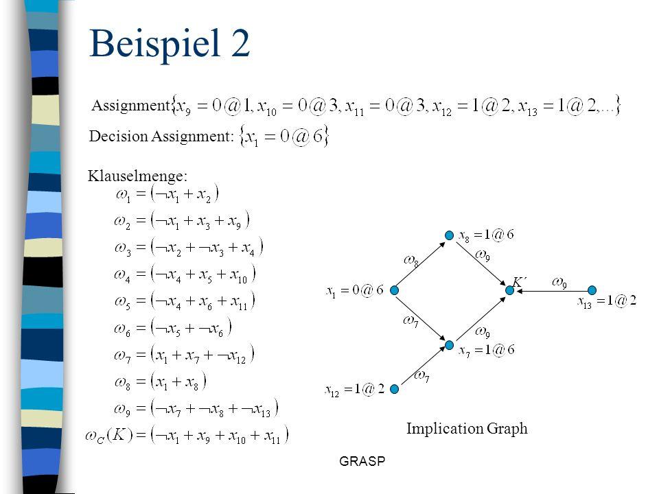GRASP Die Diagnose() Prozedur Im Beispiel würde dies zu folgendem Ergebnis führen: