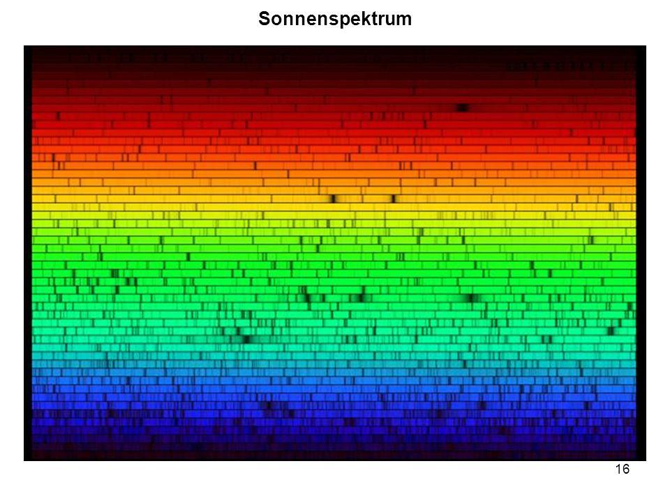 16 Sonnenspektrum