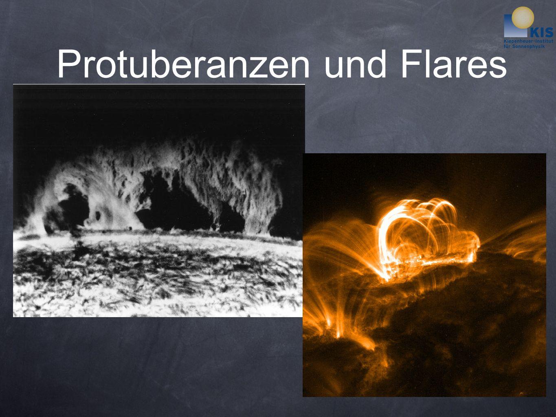 Protuberanzen und Flares