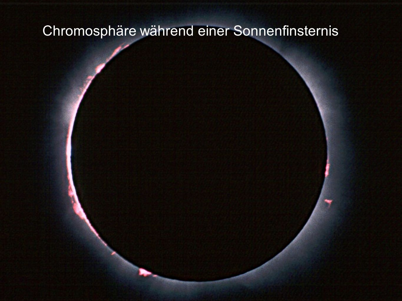 Chromosphäre während einer Sonnenfinsternis