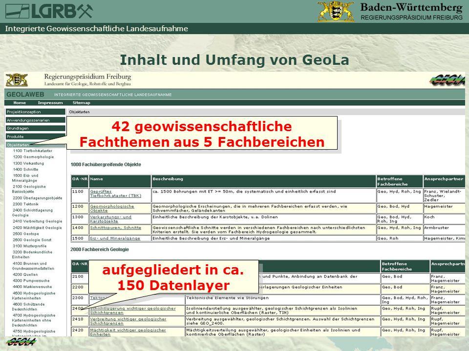 Integrierte Geowissenschaftliche Landesaufnahme Informationssystem Oberflächennahe Geothermie für Baden-Württemberg (ISONG) www.geothermie-bw.de