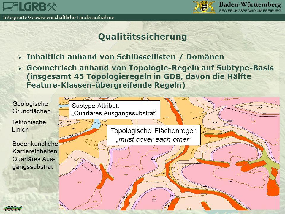 Integrierte Geowissenschaftliche Landesaufnahme GeoLa-Produkte www.lgrb-bw.de GeoLa-Themen sind in Annex II und III der INSPIRE- Richtlinie enthalten Das Angebot orientiert sich an vorhandenen GDI-Standards LGRB arbeitet aktiv mit bei der GDI-BW und im Expertennetzwerk für INSPIRE Geologiethemen Aktuelle GeoLa-Produkte Geodaten Geodaten-Dienste (WMS-Dienst) Anwendungen LGRB-Mapserver / LGRB-Geodaten-Browser Informationssystem Oberflächennahe Geothermie für Baden- Württemberg (ISONG) Derzeit Übergangsphase: Klassische Produkte und GeoLa-Produkte!