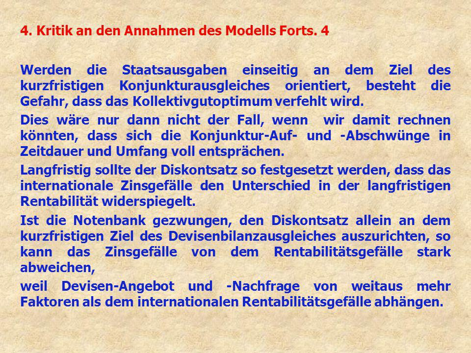 4. Kritik an den Annahmen des Modells Forts. 4 Werden die Staatsausgaben einseitig an dem Ziel des kurzfristigen Konjunkturausgleiches orientiert, bes