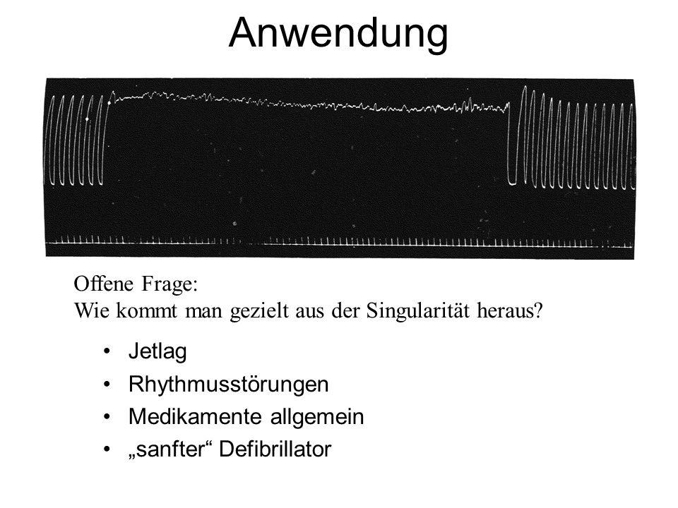 Anwendung Jetlag Rhythmusstörungen Medikamente allgemein sanfter Defibrillator Offene Frage: Wie kommt man gezielt aus der Singularität heraus?