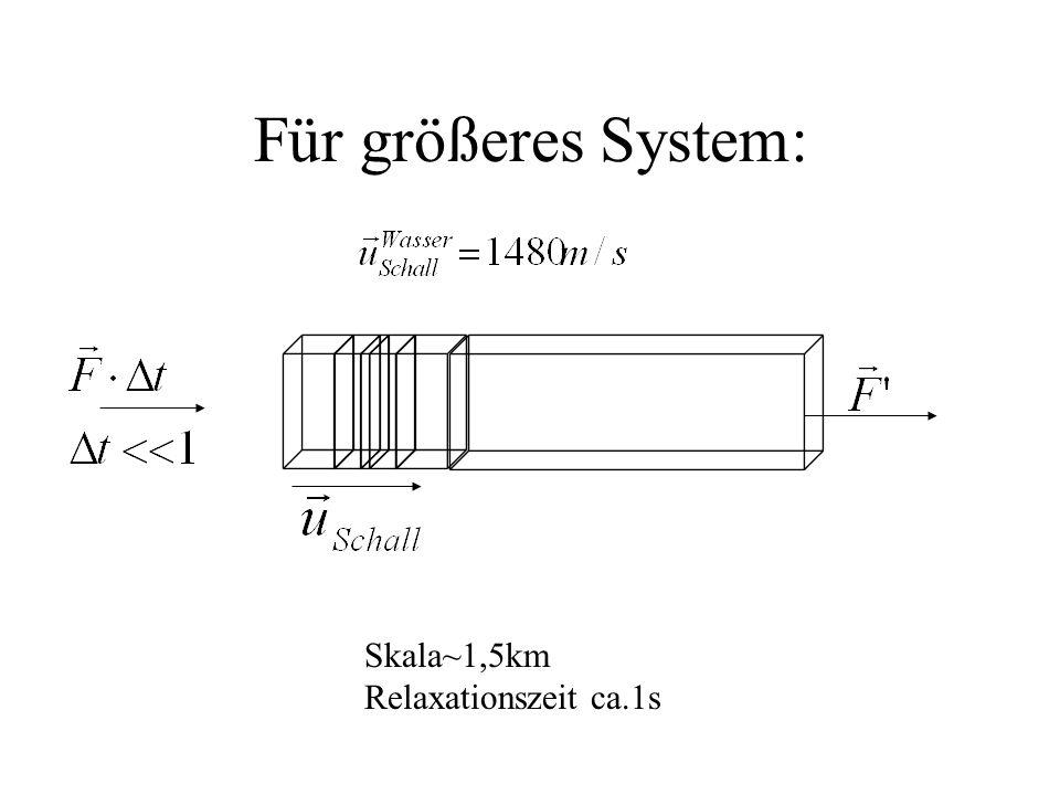 Für größeres System: Skala~1,5km Relaxationszeit ca.1s