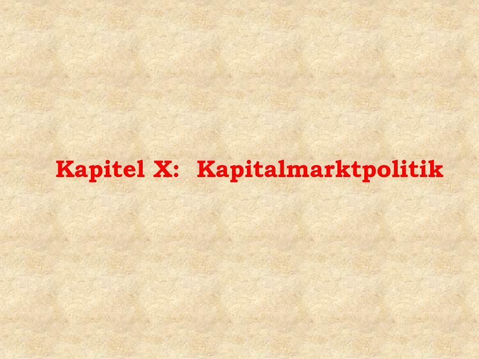 Kapitel X: Kapitalmarktpolitik
