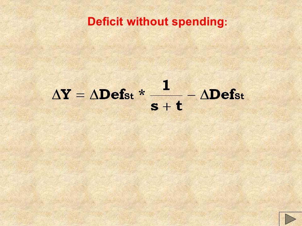 Deficit without spending :