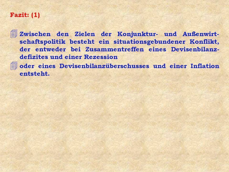 Frage 4: Wie wird der Zielkonflikt innerhalb der Devisenzwangswirtschaft gelöst .