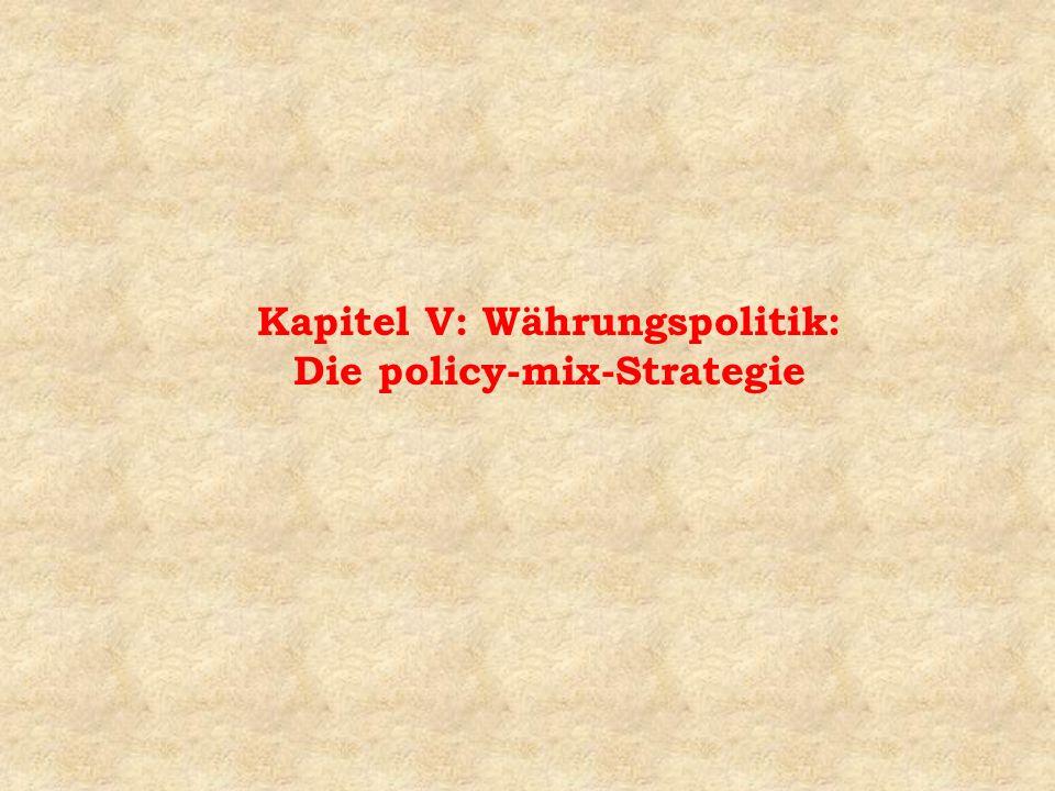 Frage 5: Läßt sich auch für ein System freier Wechselkurse eine policy-mix-Strategie entwickeln .