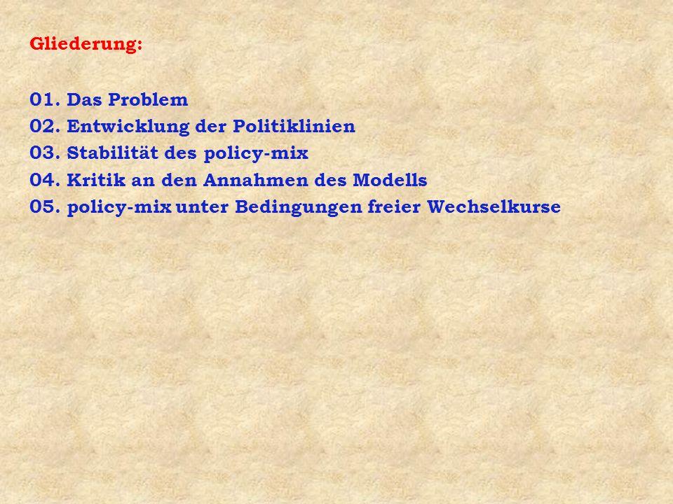Frage 4: Welche Kritik wurde an der policy-mix-Strategie geübt .