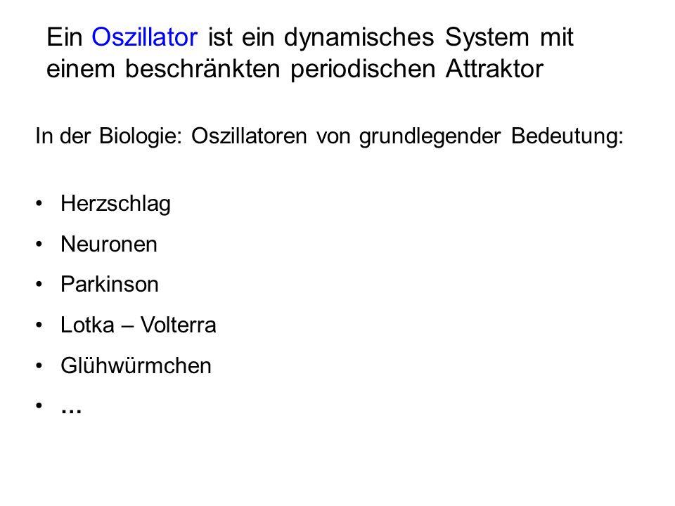 Biologie: immer Dissipation und Fluktuation vorhanden => Es müssen aktive System sein (zB van der Pol) Hamiltonsche Systeme: klingen ab oder laufen aus dem Ruder
