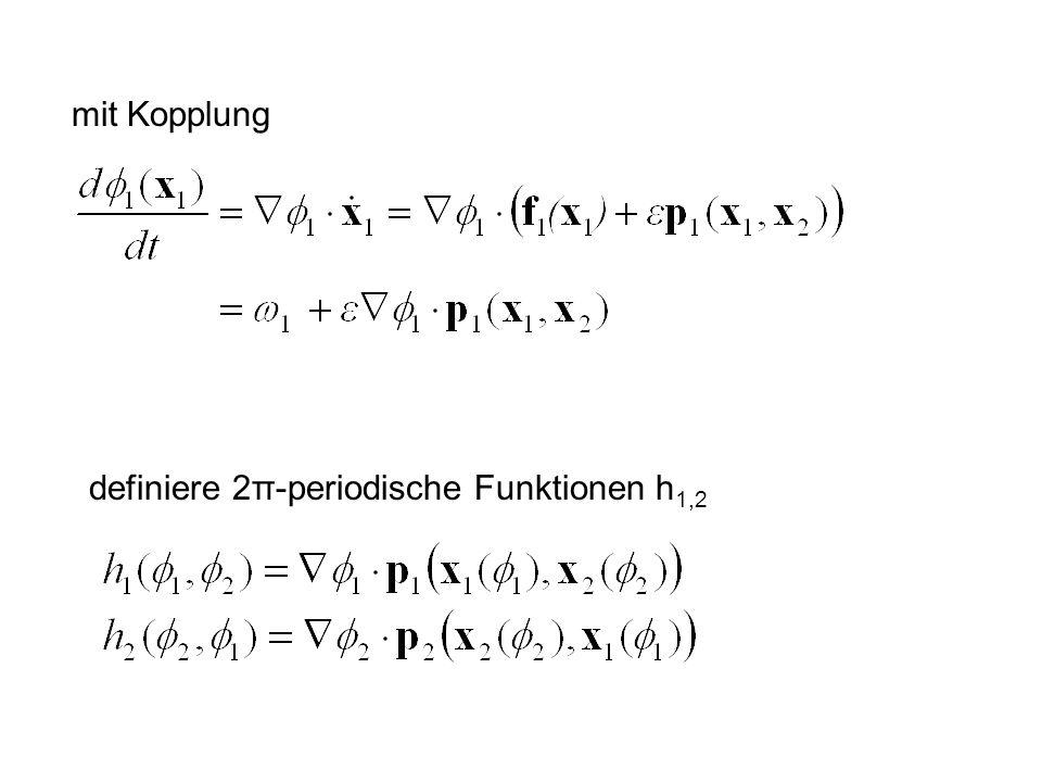 mit Kopplung definiere 2π-periodische Funktionen h 1,2