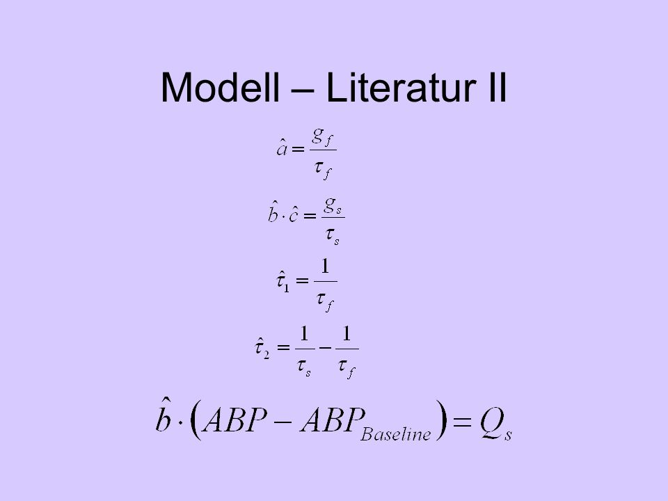 Modell – Literatur II