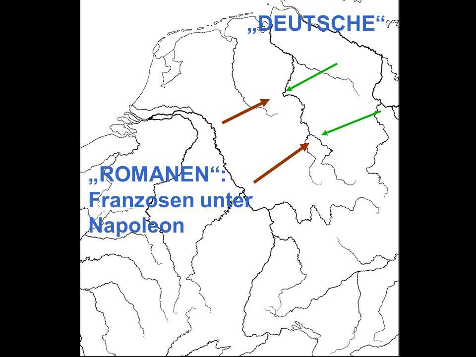 ROMANEN: Franzosen unter Napoleon DEUTSCHE