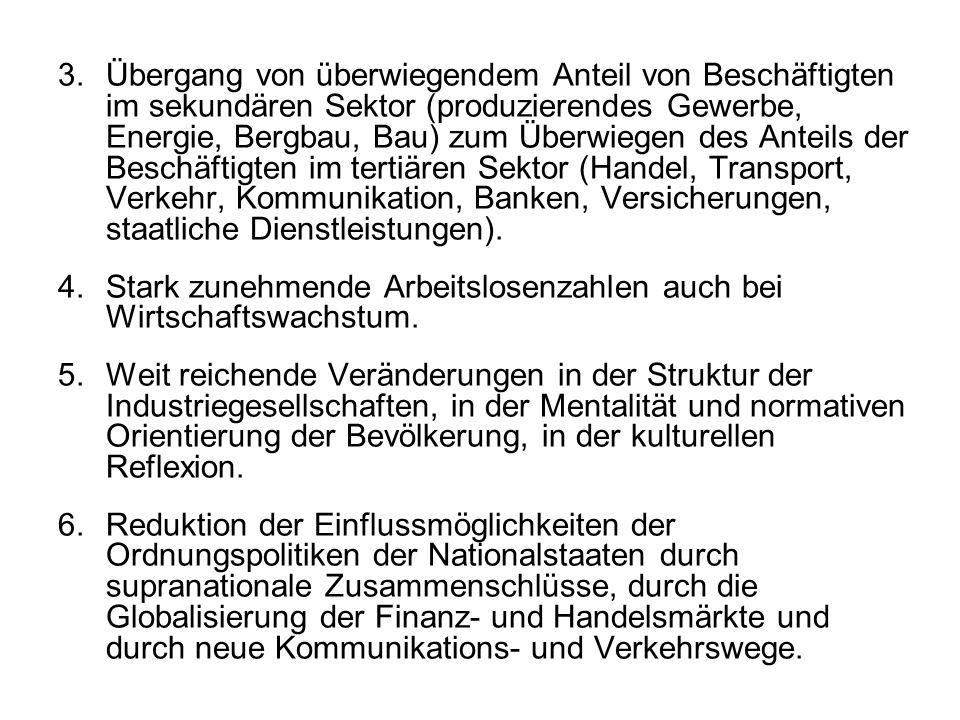 Normalbiographie Entstandardisierung der weiblichen Normalbiographie in den 1980er Jahren: 1.Anstieg der Erwerbsquote, v.a.