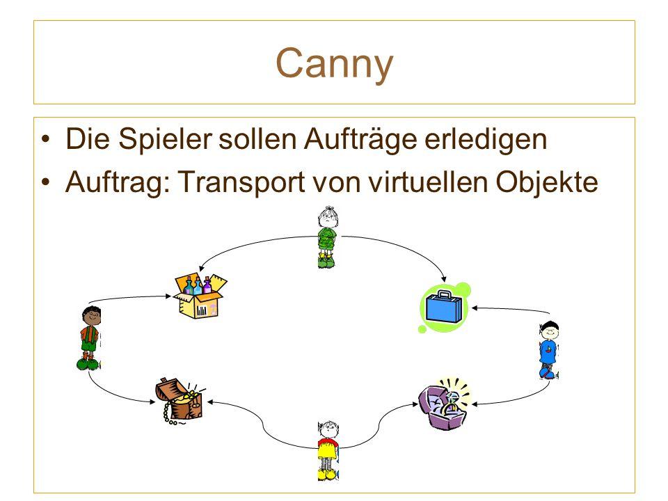 Canny Die Spieler sollen Aufträge erledigen Auftrag: Transport von virtuellen Objekte