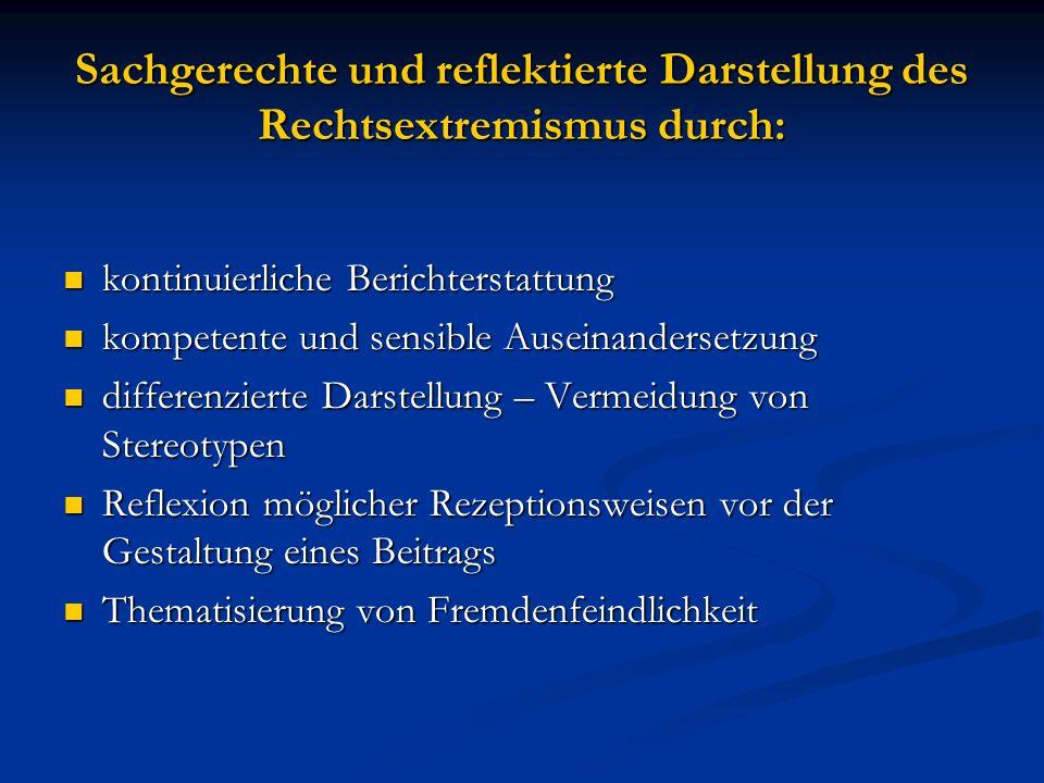 Darstellung des Rechtsextremismus in den Medien VIELEN DANK.