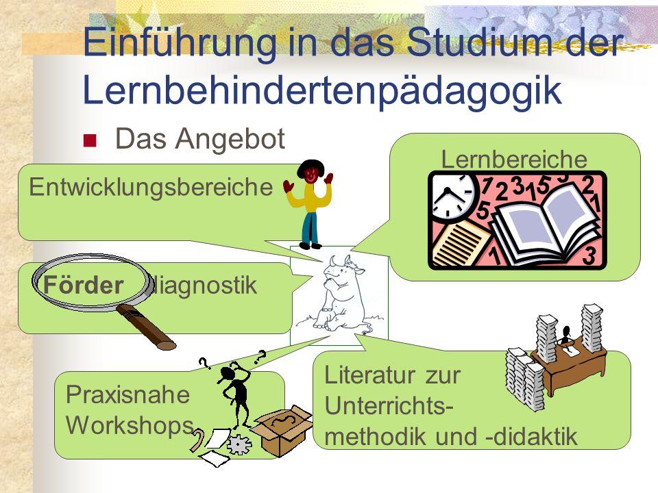 Ziele und Aufgaben Praxisorientierung sonderpädagogischer Studiengänge Unterrichts- und Fördermaterialien Förderdiagnostische Materialien Unterrichtsv