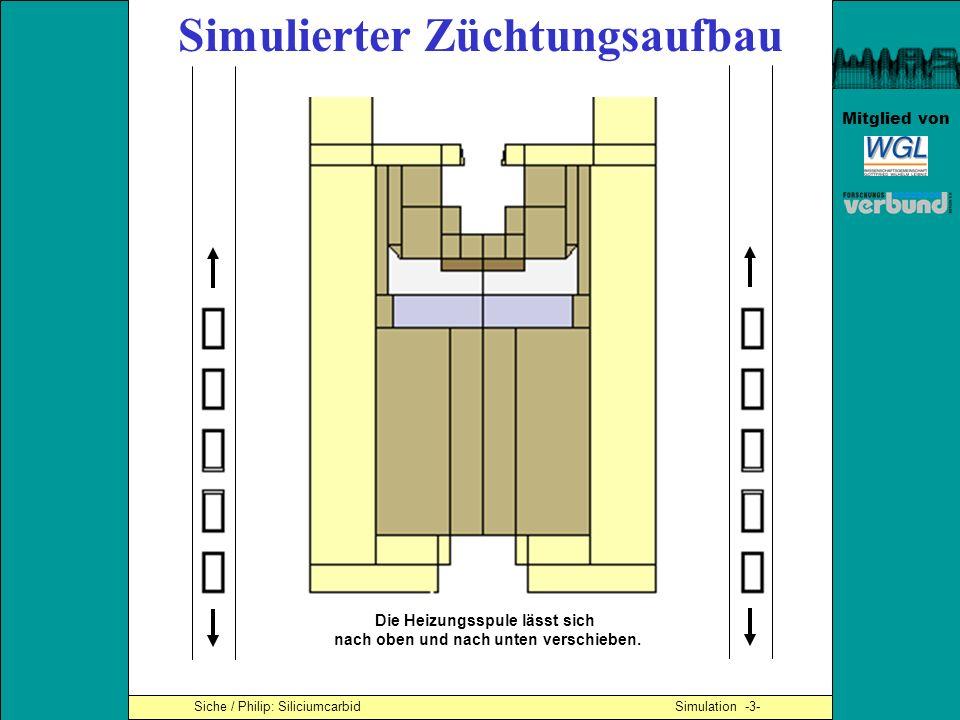 Mitglied von Simulierter Züchtungsaufbau Die Heizungsspule lässt sich nach oben und nach unten verschieben. Siche / Philip: Siliciumcarbid Simulation