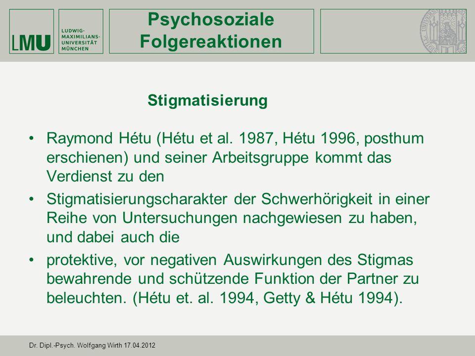 Dr. Dipl.-Psych. Wolfgang Wirth 17.04.2012 Zusammenhang zwischen Stress Coping und Ressourcen